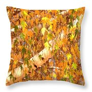 Elegant Autumn Branches Throw Pillow