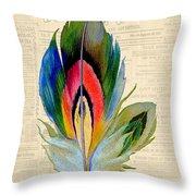 Elegant Feather-b Throw Pillow
