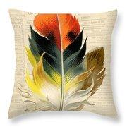 Elegant Feather-c Throw Pillow