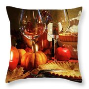 Elegant Festive Table Throw Pillow