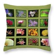 Elegant Flowers Collection Throw Pillow