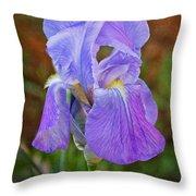 Elegant Iris Throw Pillow