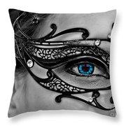 Elegant Mask Throw Pillow