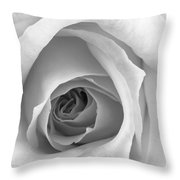 Elegant Rose In Black And White Throw Pillow