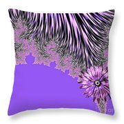 Elegant Tentacles Purple And Lilac Throw Pillow