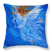 Elemental Earth Angel Of Wind Throw Pillow