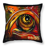 Elementals Spirit Eye Throw Pillow