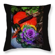 Elements Of Fall Throw Pillow