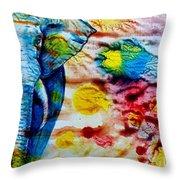 Elepant Abstract Throw Pillow