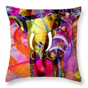 Elephant 007 - Marucii Throw Pillow