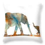 Elephant 01-2 Throw Pillow
