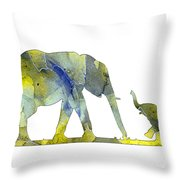 Elephant 01-5 Throw Pillow
