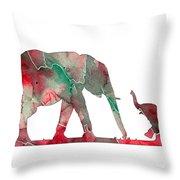 Elephant 01-6 Throw Pillow