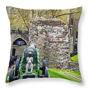 Elephant And Cannon Of The Tower Throw Pillow