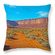 Elephant Butte From Wildcat Trail In Monument Valley Navajo Tribal Park-arizona   Throw Pillow
