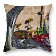 Elephant Celebration Throw Pillow