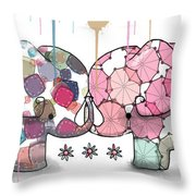 Elephant Confection Throw Pillow