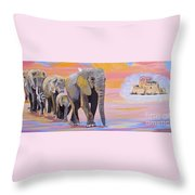 Elephant Fantasy Must Open Throw Pillow