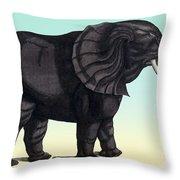 Elephant From The Historiae Animalium 16th Century Throw Pillow