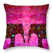 Elephant Impressions In Magenta Throw Pillow