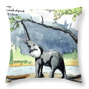 Elephant Inspiration One Throw Pillow