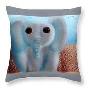 Animalart Elephant Throw Pillow
