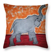 Elephant N Time Out Throw Pillow