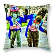 Elephant Or Donkey Throw Pillow