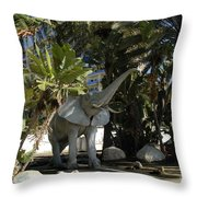 Elephant Show In Marbella Throw Pillow