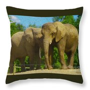 Elephant Snuggle Throw Pillow