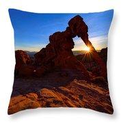 Elephant Sunrise Throw Pillow