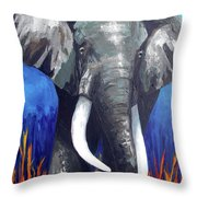 Elephant - The Gentle Throw Pillow