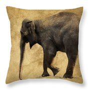 Elephant Walk II Throw Pillow