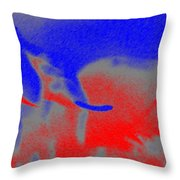 Elephants En Cavale Throw Pillow