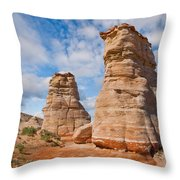 Elephant's Feet Rock Formation Throw Pillow