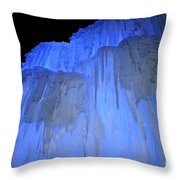 Elevated Blue Throw Pillow
