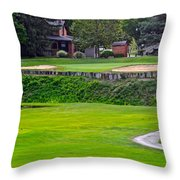 Elevated Green Throw Pillow