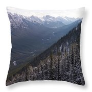 Elevated View Down U-shaped Valley Throw Pillow