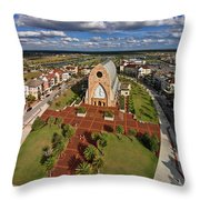 Elevated View Of Ave Maria Oratory Throw Pillow