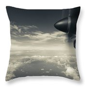 Elevated View Of Caribbean Sea Throw Pillow