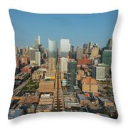 Elevated View Of Cityscape, Lake Street Throw Pillow