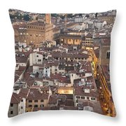 Elevated View Of Florence Throw Pillow