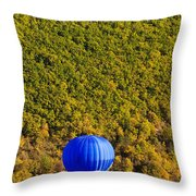 Elevated View Of Hot Air Balloon Throw Pillow