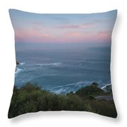 Elevated View Of Monte Igueldo Throw Pillow