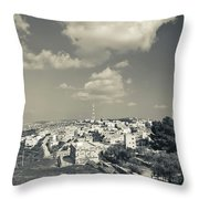 Elevated View Of The New Town, Umm Throw Pillow