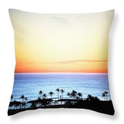 Elevated View Of The Sunset Throw Pillow