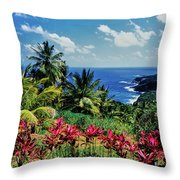 Elevated View Of Trees And Plants Throw Pillow