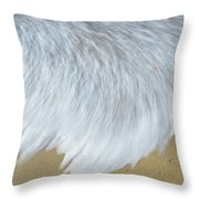 Elevated View Of Waves In Motion, Playa Throw Pillow