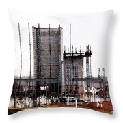 Elevator Going Up Throw Pillow