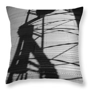 Elevator Shadow Throw Pillow